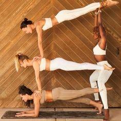 Group Yoga Poses, Acro Yoga Poses, Partner Yoga Poses, Yoga Girls, Ashtanga Yoga, Kundalini Yoga, Figure Yoga, Yoga Inspiration, Danse Twerk