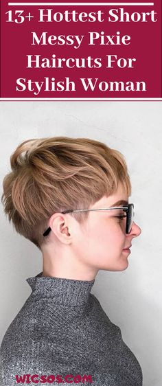 Hottest Short Messy Pixie Haircuts For Stylish Woman Messy Pixie Haircut, Long Pixie Hairstyles, Short Hair Undercut, Undercut Hairstyles, Summer Hairstyles, Pixie Haircuts, Short Pixie, Short Hair Cuts, Short Hair Styles
