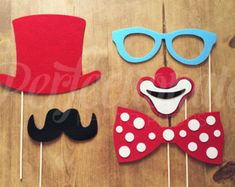 Felt Carnival Photo-booth Props Masquerade Mask by Perfectionate