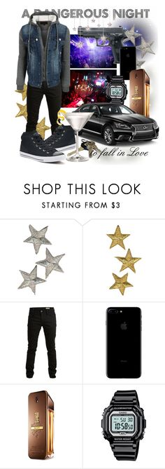 """""""085 A Dangerous Night"""" by berry2206 on Polyvore featuring SELECTED, Paco Rabanne, Casio, Converse, men's fashion und menswear"""
