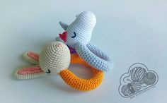 Sami sonajero unicornio por DesdelasNubes en EtsyUnicorn ganchillo rattle rabbit conejito Roger  Crochet amigurumi  www.desdelasnubes.com