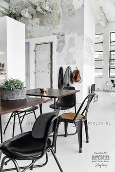 Vosgesparis: An industrial loft in the Netherlands | Out of the blue - industrial grey beton home