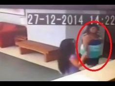 WATCH: Woman 'Pushed Over by a GHOST': CCTV Footage Captures Freaky Moment!!!