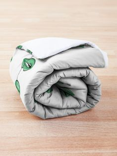'Green Lips' Comforter by MadoMade Green Lips, College Dorm Bedding, Make Your Bed, Cactus Flower, Sell Your Art, Cotton Tote Bags, Bean Bag Chair, Comforters, Neon