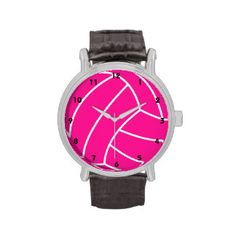 *Pink Volleyball Watch