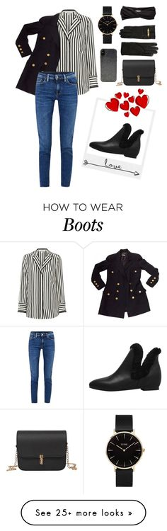 """Love these Boots"" by danilicious86 on Polyvore featuring Eugenia Kim, Polaroid, Frame, Chanel, Acne Studios, CLUSE, Moschino and Candywirez"