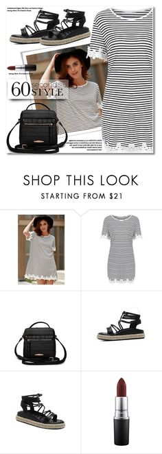 """""""Untitled #2840"""" by svijetlana ❤ liked on Polyvore featuring MAC Cosmetics, 60secondstyle and outdoorconcerts"""