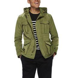 Parka droite courte Scotch And Soda en vert pour homme Scotch, Parka, Soda, Military Jacket, Jackets, Fashion, Green, Down Jackets, Moda