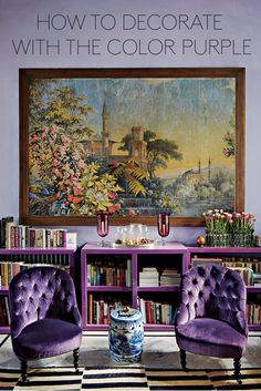 How to Decorate with the Color Purple!
