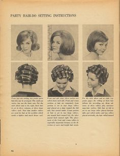 it's perfectly fine - Posts tagged hair and makeup Retro Hairstyles, Party Hairstyles, Wedding Hairstyles, Roller Set, Hair Roller, Sleep Roller, 1960s Hair, Wet Set, Hair Patterns
