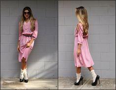 Vtg Vintage 80s Sweet Valentine Secretary Dress by Sweetiesvintage