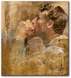 Jacek Malczewski, Modlący się mężczyzna. Human Art, My Drawings, Mythology, Art Nouveau, Paintings, Drawing Board, Fine Art, Figurative, Ideas Para