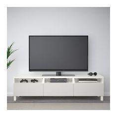best banc tv avec tiroirs blanc inviken brun noir ikea - Meuble Tv Blanc Design Ikea