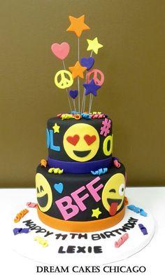 Emoji Cake by Dream Cakes Chicago Cake Chicago, Birthday Cake With Photo, Birthday Cake Emoji, 10th Birthday, Emoji Cake, Pecan Cake, Bowl Cake, Dream Cake, Savoury Cake