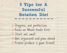 5 Tips for a Successful Rotation Diet (Or Any Diet!) - Are you eating the same food day in and day out? Finding it hard to break out of your food rut? It's hard not to when you live with food allergies! Finding healthy foods that taste great while still maintaining a special diet can be tough. Oftentimes, we find foods that work for us and we eat them…a lot…sometimes too much!