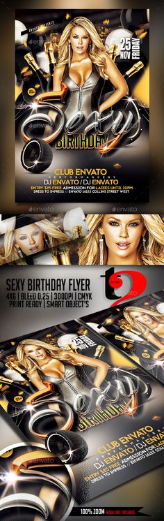 Editable club flier template, can be edited and tweaked to your - birthday flyer template