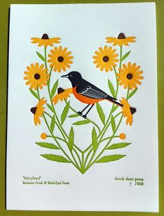 Maryland Print by Dutch Door Press on Little Paper Planes