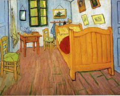 "Vincent van Gogh: ""Vincent's Bedroom in Arles"",1888. (Van Gogh Museum, Amsterdam, Netherlands.) http://www.vangoghmuseum.nl/"