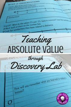 Step by step look at how I got my students to discover absolute value with a discovery lab. Great way to help them build a deeper understanding, and a good lead in to mean absolute deviation.