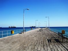 Wooden plank pier at Limassol seafront. I do so love this photo, I think it may be my favourite shot.
