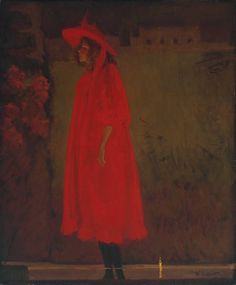 'Minnie Cunningham at the Old Bedford Music Hall' by W R Sickert,1892.  Cunningham sang what Marie Lloyd described as 'romping schoolgirl songs'. When Sickert exhibited this picture for the first time at the New English Art Club in 1892, his title specified that she was singing 'I'm an Old Hand at Love, Though I'm Young in Years'.