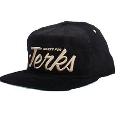 9fd1ab5c415 Benny Gold Jerks Corduroy Snapback Hat (Black)  31.95