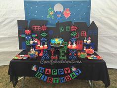 Pj masks theme birthday party. Pj masks party diy
