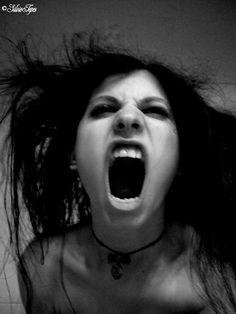 Vampire Sylvia-Bite by on DeviantArt Vampire Love, Female Vampire, Gothic Vampire, Vampire Girls, Vampire Art, Screaming Girl, Back Tats, Vampire Pictures, Hot Vampires