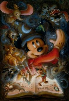 Darren Wilson Debuting Exclusive Disney Cruise Line Artwork Aboard the Disney Fantasy August 2013 Disney Pixar, Disney Amor, Cute Disney, Disney Animation, Disney And Dreamworks, Disney Magic, Disney Icons, Creepy Disney, All Disney Characters