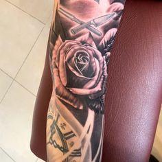 A simple rose Floral Tattoos, Simple Rose, Flower Tattoos, Flower Side Tattoos