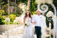 Beach boho wedding dress