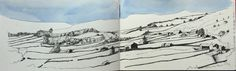 Swaledale: Moleskine sketch