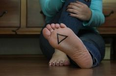I like that this would be like a secret tattoo. Also, love triangles!
