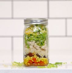 3 Mason Jar Meals That Make Lunchtime So Much Easier | Your lunch is about to be the envy of the office.