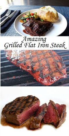 Beef recipes for dinner,beef recipes easy,beef recipes crockpot,beef recipes ground Healthy Grilling Recipes, Grilled Steak Recipes, Beef Recipes For Dinner, Baked Chicken Recipes, Edamame, Tortellini, Guacamole, Pesto, Flat Iron Steak
