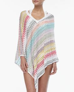 V-Neck+Patterned+Poncho+by+Missoni+at+Neiman+Marcus.