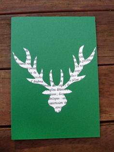 Stag or Deer Cards set of six by OKIFOLKI on Etsy, £5.00