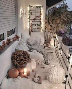 Small balcony ideas, balcony ideas apartment, cozy balcony design, outdoor balcony, balcony ideas on a budget Apartment Balcony Decorating, Apartment Balconies, Small Balcony Decor, Balcony Ideas, Patio Ideas, Garden Ideas, Balkon Design, Aesthetic Rooms, Dream Rooms
