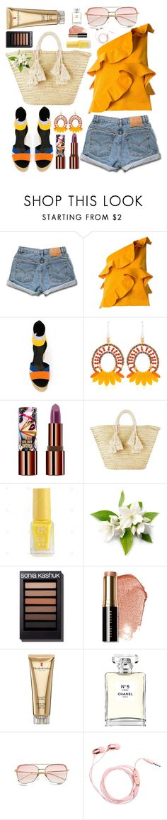 """SUMMER"" by piedraandjesus ❤ liked on Polyvore featuring Levi's, MSGM, Pierre Hardy, Ziio, Teeez, Giselle, Bobbi Brown Cosmetics, Elizabeth Arden and Chanel"