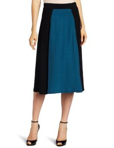 Three Dots Red Women`s Skirt With Silk Panel $44.52