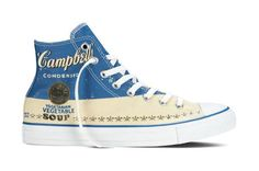 Converse Inc. announces the global debut of the Spring 2015 Converse All Star Andy Warhol Collection in partnership with The Andy Warhol Foundation. Marrying Warhol's distinct vision with the Conve… Converse All Star, Converse Chuck Taylor All Star, Chuck Taylor Sneakers, Andy Warhol, New Sneakers, Converse Sneakers, High Top Sneakers, Converse Online, Converse High