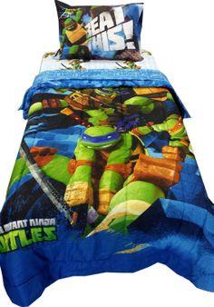 Hand painted Teenage Mutant Ninja Turtle bedroom wall mural. TMNT ...