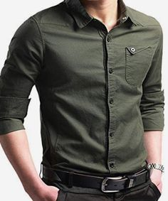 A wardrobe staple for modern men, Liverpool Private Reserve Casual Plain Cotton Shirt is a handsome option for the weekend. Crafted in super-soft cotton in solid color, the handsome shirt features buttoned chest pocket on the left, a classic point collar Mens Dress Outfits, Men Dress, Casual Outfits, Floral Shirt Outfit, Formal Shirts, Casual Shirts For Men, Men Casual, Smart Casual, Cool Shirts For Men