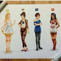 Social Media girls Artist: @artby_chloe - @art_daily