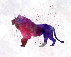 Lion 01 In Watercolor Print by Pablo Romero