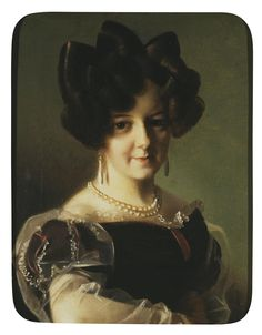 Tulov, Fiodor Andreevich  Portrait of a Woman  Russia, 1820s