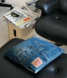 jeans pillow - cute