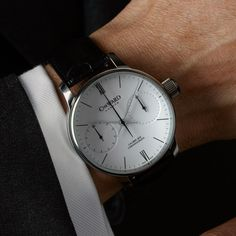 Swiss Made Single pusher chronograph by Christopher Ward C900. Nominated for watch of the year 00/24 - http://www.0024watchworld.com/component/com_surveyforce/Itemid,491/view,survey/ give it your vote