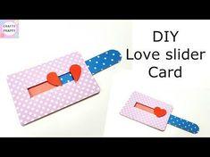 DIY Love Slider Card Tutorial For Scrapbook Explosion Box
