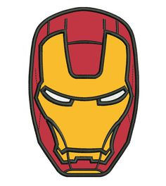 Ironman Head Applique Embroidery Design. $8.00, via Etsy.